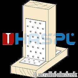 Angle bracket 90° Type 1 40x120x120x2,0 - 2