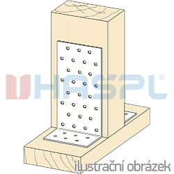 Angle bracket 90° Type 1 40x80x80x2,0 - 2