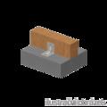 Reinforced angle bracket Type 4 90x105x105x3,0 groove - 2/3