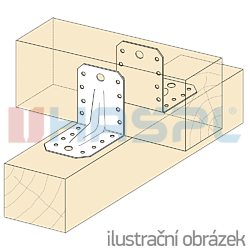 Reinforced angle bracket  90° Type 4 55x70x70x2,0 - 2
