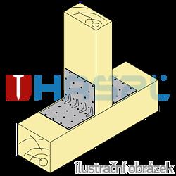 Reinforced angle bracket  90° Type 5 30x70x70x1,5 - 2