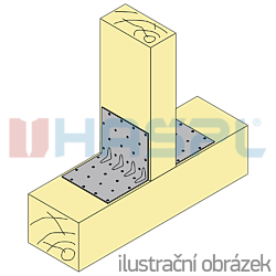 Reinforced angle bracket  90° Type 5 100x53x53x1,5 - 2