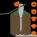 Ground screw circular 26-55x560 - 2/3