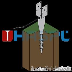 Ground screw type U 80x700 - 2
