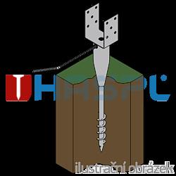 Ground screw type U 100x900 - 2