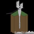 Ground screw type U 100x900 - 2/3