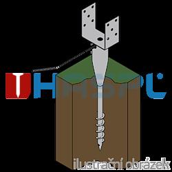 Ground screw type U 120x900 - 2