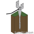 Ground screw type U 120x900 - 2/3