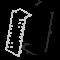 Gerber connector, slant 220x30x75x2,0 - 3/3