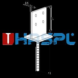 Anchor base to concrete type T 90x90x4,0 - 3