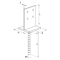 Anchor base to concrete type T 70x70x4,0 - 3/3