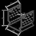 Anchor element type U reinforced 60x60x4,0 - 3/3