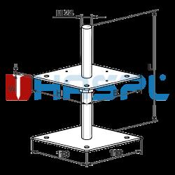 Pillar base 80x80x330x4,0 M24 - 3