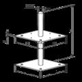 Pillar base loose nut 80x80x330x4,0 M24 - 3/3