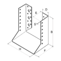 Joist hanger type 2 80x100x2 - 3/3
