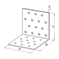 Angle bracket 90° Type 1 60x100x100x2,5 - 3/3