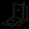 Angle bracket 90° Type 4 55x70x70x2,0 - 3/3
