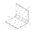 Reinforced angle bracket  90° Type 5 30x70x70x1,5 - 3/3