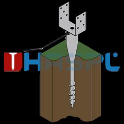 Ground screw type U 120x900 - 3