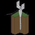 Ground screw type U 120x900 - 3/3