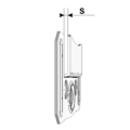 Panelling handle KB 6 mm - 3/3